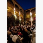 <p>The Castle Courtyard in Magione</p><br/>