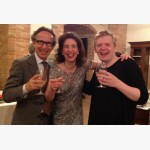 <p>Angela, Pekka Kuusisto and the Finnish Ambassador</p><br>