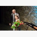 <p>Angela Hewitt & Giacomo Chiodini, Mayor of Magione</p><br/>