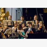<p>During Beethoven's Triple Concerto</p><br/>