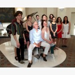 <p>The students with Angela Hewitt and Paolo Fazioli</p><br>