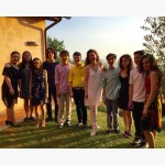 <p>The students with Angela Hewitt</p><br/>