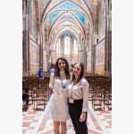 <p>29 June, Assisi – Beautiful Giulia & Alessandra ready to welcome the audience!</p><br>