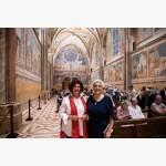 <p>29 June, Assisi – Ilaria Borletti Buitoni & Patrizia Cavalletti</p><br>
