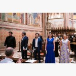 <p>29 June, Assisi – Conductor Matthew Halls with the soloists</p><br/>