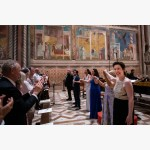 <p>29 June, Assisi – Angela Hewitt with all the soloists</p><br/>