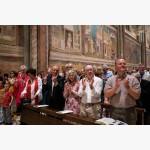 <p>29 June, Assisi – Finnish conductor Sakari Oramo, author Ian McEwan & his wife, Eric Friesen</p><br>
